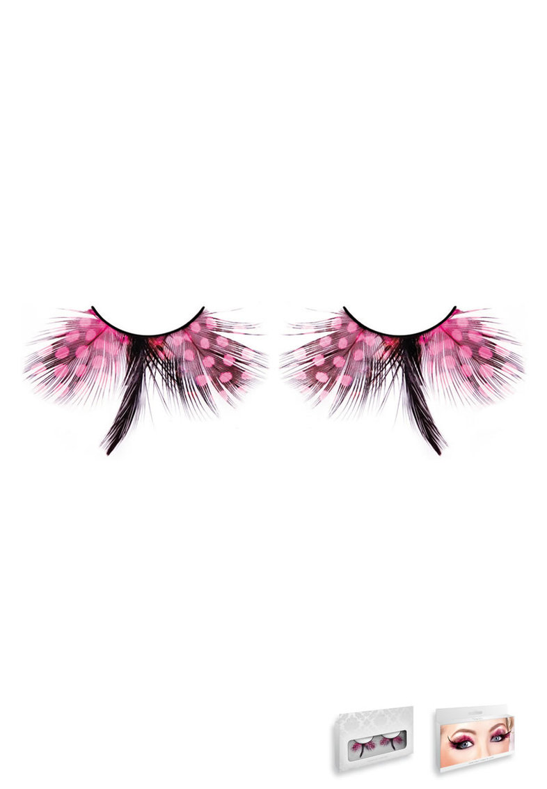 Baby Pink Feather Eyelashes