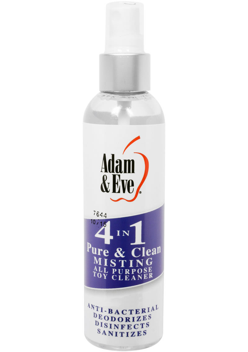 Adam And Eve 4 In 1 Pure And Clean Misting All Purpose Toy Cleaner 4 Ounce