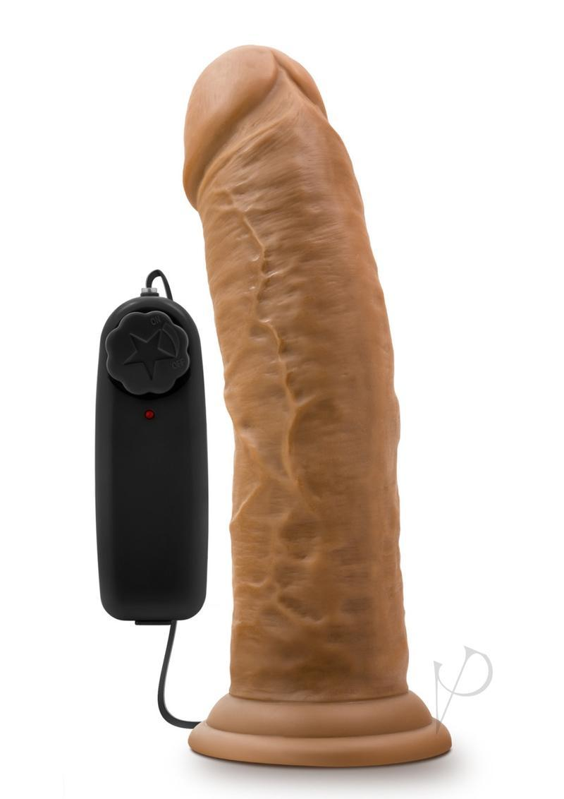 Dr. Skin Dr. Joe Wired Remote Control Vibrating Realistic Cock With Suction Cup Waterproof Mocha 8 Inch